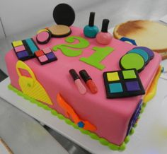 Fondant Friday Make-Up Cake I like the numbers