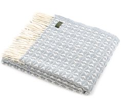 Cobweave Duck Egg Wool Throw - £54.95 www.naturalcollection.com