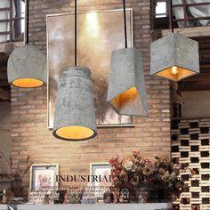 74.00$  Buy now - http://aliuv0.worldwells.pw/go.php?t=32789602840 - Cement Pendant Lights Designer creative personality art lighting retro nostalgia bar restaurant aisle coffee shop simple