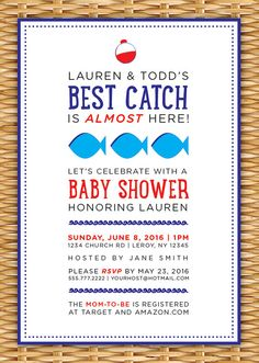Elegant Pin By Honey Knotts On Mirandau0027s Baby Shower | Pinterest | Fishing Baby  Showers, Shower Invitations And Babies