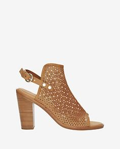 rag & bone Wyatt Perforated Leather Slingback Peep-Toe: Brown  #intermix #sweepstakes