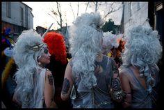 Mardi Gras hair ;) Mardi Gras Costumes, Dreadlocks, Colours, Holidays, Celebrities, Hair Styles, Beauty, Hair Plait Styles, Holidays Events