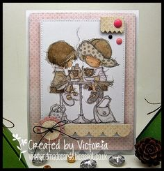 Lili of the valley stamp Tiddly Inks, Sarah Kay, Lily Of The Valley, Vixx, Cute Cards, I Card, Handmade Cards, Card Making, Girly
