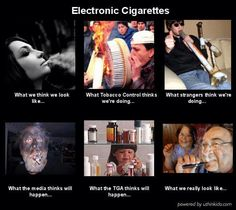 What people think, when they hear Electronic Cigarettes.