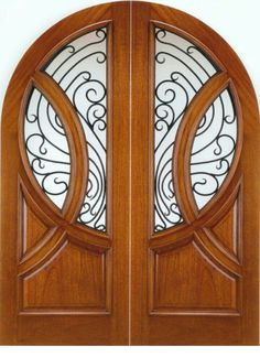 AAW Inc. 149 Montmatre Old World Arched Top Solid Mahogany Double Entry Doors with Forged Iron Big Doors, Arched Doors, Entry Doors, Windows And Doors, Front Entry, Front Doors, Art Nouveau, Art Deco, Interior Doors For Sale