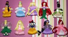 Princess Sculpted Ribbon Hair Bows by KaylaBugsBoutique on Etsy, $5.00