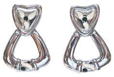 Givenchy Modernist Door Knocker Earrings