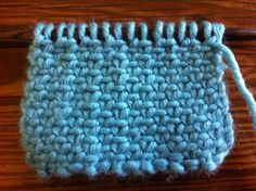 How to Knit the Linen Stitch.