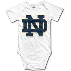 OOKOO Baby's University Of Notre Dame Bodysuits White 12 Months >>> You can get more details at