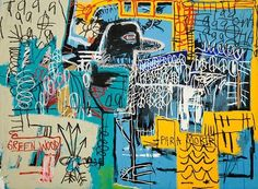 "Jean-Michel Basquiat ""Bird on Money"" c. 1981 Location: Private Collection  The painting is an homage to one of Jean-Michel Basquiat's heroes jazz saxman Charlie Parker ... yardbird ... was one of the musician's nicknames... Basquiat was nothing if not sophisticated. He toyed with primitivist tropes rhythmically the way jazz musicians play with standards. He made that connection himself; the names of famous jazz players turn up in many of his works  #abstractart #thedeancollection…"