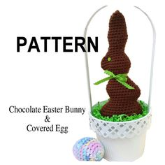 PATTERN Chocolate Easter Bunny and Covered Plastic by 2Good2Eat, $4.00