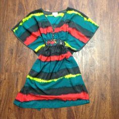 Beautiful tunic dress Wore once I used it as a top with leggings no rips stains good condition ECI Dresses Mini