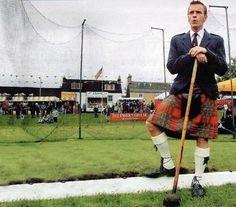 Ewan McGregor in a Kilt