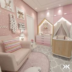 NET and discover more ideas and furniture for luxury baby bedroom Baby Bedroom, Baby Room Decor, Girls Bedroom, Bedrooms, Baby Room Design, Girl Bedroom Designs, Baby Zimmer Ikea, Deco Kids, Fantasy Bedroom