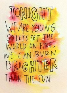"""We Are Young"" lyrics, fun."