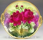 "LIMOGES HAND PAINTED ROSES ALMOST 13"" CHARGER SIGNED RANCON"