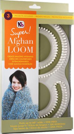 No knitting experience needed, complete step-by-step instructions. Make an afghan all in one piece with this Super Afghan Loom. This package contai Loom Knitting Stitches, Knifty Knitter, Loom Knitting Projects, Knitting With A Loom, Knitting Videos, Knitting Machine, Knitting Needles, Yarn Crafts, Sewing Crafts