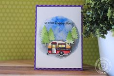 Happy Camper Adventure Themed Happy Place Card with Eloise