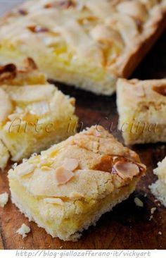 Crostata alla crema e mandorle ricetta dolce vickyart arte in cucina