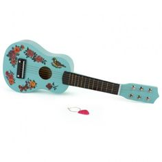 Blue Wooden Guitar