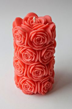 Beeswax rose candle. SO awesome!!!!!