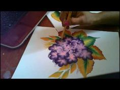 Acrylic Painting- One Stroke Technique, Decorative Art - YouTube