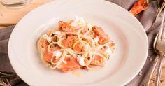 Recette de Spaghettis au saumon fumé. Facile et rapide à réaliser, goûteuse et diététique. Ingrédients, préparation et recettes associées.