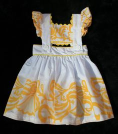 Items similar to Panama dress on Etsy Sewing For Dummies, Kids Fashion, Fashion Outfits, Girls Dresses, Summer Dresses, American Girl Clothes, Embroidery Dress, My Princess, Baby Sewing