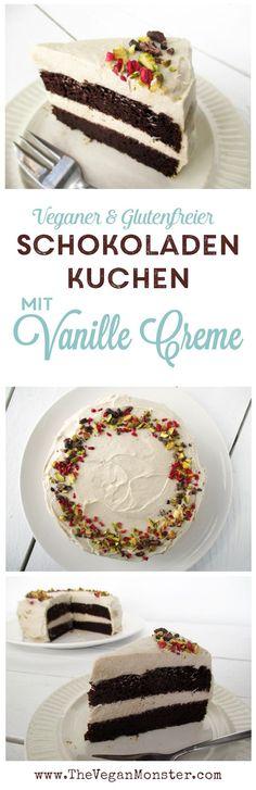 Vegane Glutenfreie Milchfreie Schokoladen Sahne Vanille Creme Torte Kuchen Rezept