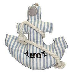 Shabby-Chic-Cute-Anchor-Fabric-Door-Stop-in-Cream-Blue-Nautical-Gift-Decor