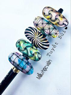 Pointed Nails, Coffin Shape Nails, Sticker Design, Julie Nails, Nail Designs, Nail Art, Shapes, Crystals, Makeup