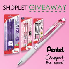 Here's your chance to win some #Pentel #BreastCancerAwareness #pens! We're giving 3 lucky winners $25 dollars worth of product. #Support #Giveaway