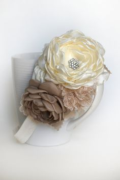 Vintage Wedding Headband by JensBowdaciousBows on Etsy, $15.50