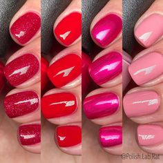 """Third and last part of the @opi Spring 2021 """"Hollywood"""" Collection. This group has the reds and brighter pinks and it's like the flowers… Opi, Bright Pink, Nail Polish, Lipstick, Nails, Third, Hollywood, Beauty, Group"""