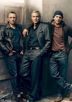 Daniel Craig, George Clooney and Matt Damon photographed by Annie Leibovitz