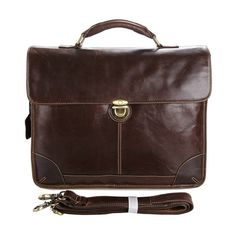 Polare Men's Genuine Leather Business Case Briefcase Tote Attache 14' Laptop Bag *** Check out this great image  : Christmas Luggage and Travel Gear