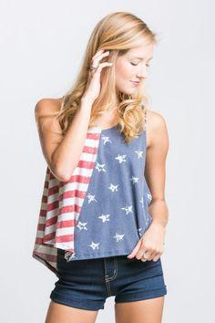 Boho American Flag Lace Top | Stella Rae's