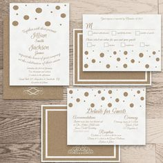 •The Charlotte Collection•    Wedding Invite  Reception/Accommodation Card  Response Card    All watermarks (logo) will be removed at your first proof.  ………………………………………………………………………………………………………………...............................    •This listing is for a 5x7 Printable DIY Wedding Package Invitation. F