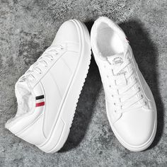 a263880a38549 Surom Fashion Winter Warm Plush Leather Casual Shoes Men Height Increasing  Mens White Shoes Classic Black