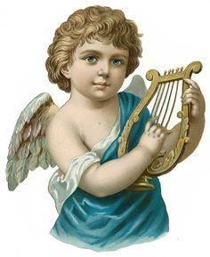 Free Vintage Angel With Harp Clipart Victorian Angels, Angel Wallpaper, Angel Images, Angel Art, Mural Painting, Renaissance Art, In Kindergarten, Vintage Prints, Vintage Images