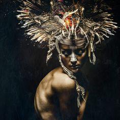Stefan Gesell Photography INTERSTELLAR Model KC Styling KC/RASSAMEE  Kopfteil Maskenzauber und Erlebenskunst