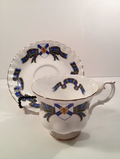 Royal Albert Bone China Tea Cup and Saucer Made by TheRainyDayShop