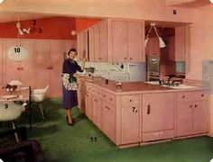 Image result for 60's kitchen cabinets