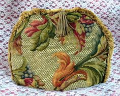 Tea Cozy Golden Brown Tapestry Padded US Foliage Fringe Tassel Tea Cosy