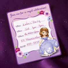Free Sofia the First Party Invitations | Printables | Spoonful