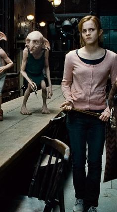 Emma Watson as hermione granger in harry potter and the deathly hallows (Pink + Navy + Blue Jeans + Cream)
