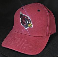 Arizona Cardinals Swarovski crystal rhinestone bling hat. www.babywantsbling.com