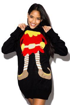 Vesta Elf Novelty Christmas Jumper In Black Novelty Christmas Jumpers, Best Christmas Jumpers, Christmas Jumper Day, Xmas Jumpers, Christmas Vouchers, Secret Santa, Christmas Shopping, Wonderful Time, Elf