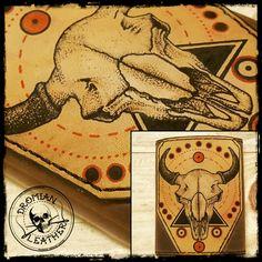 Tattooed leather wallet Leather Wallet, Tattoos, Cards, Purses, Tatuajes, Tattoo, Japanese Tattoos, Maps, Tattoo Illustration