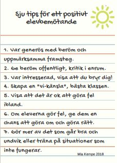 7 tips för ett positivt elevbemötande - Mia Kempe Teacher Inspiration, Classroom Inspiration, Learn Swedish, Swedish Language, Working With Children, Future Classroom, Classroom Management, School Supplies, Back To School